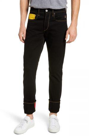 Rag & Bone Mickey Mouse Unisex Slim Fit Jeans, Size 33 - Black