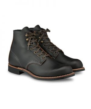 """Red Wing 3345 Blacksmith 6"""" Boot in Black Prairie Leather"""