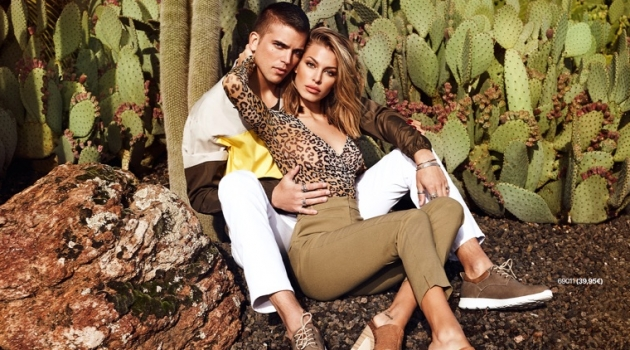 River Viiperi and his girlfriend Jessica Goicoechea front the spring-summer 2019 campaign of Refresh Shoes.