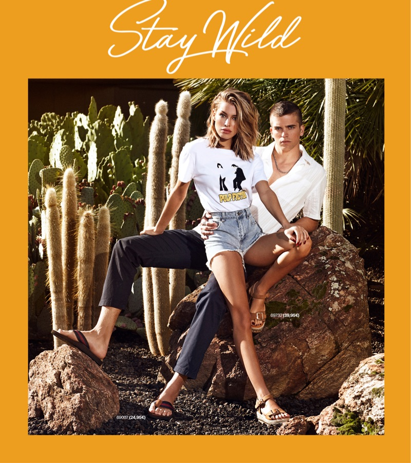 Pictured outdoors, River Viiperi and his girlfriend Jessica Goicoechea front Refresh Shoes' spring-summer 2019 campaign.