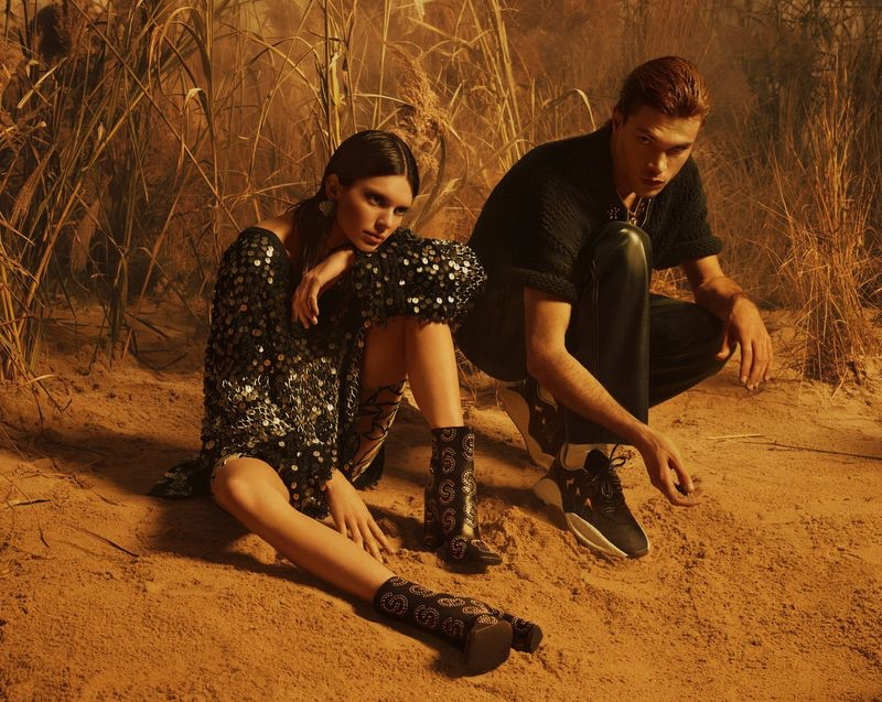 Kendall Jenner and Luka Isaac star in Roberto Cavalli's spring-summer 2019 campaign.