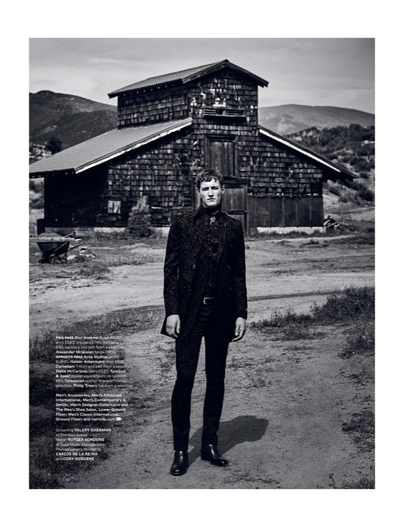 Ranch Dressing: Rutger Schoone for Harrods Magazine