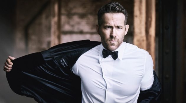 Ryan Reynolds photographed by Matthew Brookes for Armani Code Absolu