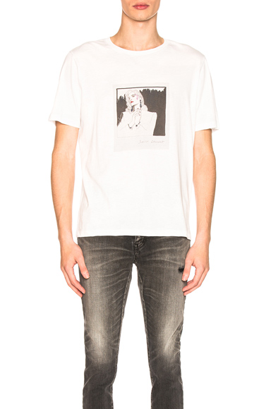 Saint Laurent Graphic Tee in White. - size S (also in M,L,XL)