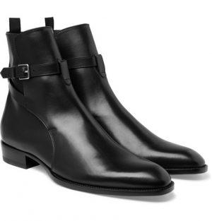 Saint Laurent - Leather Jodhpur Boots - Men - Black