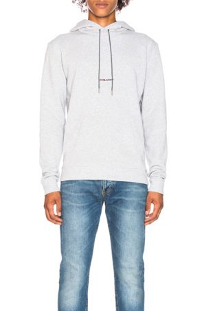 Saint Laurent Logo Hoodie in Gray. - size S (also in L,M,XL)