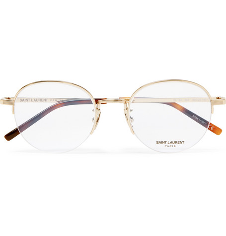 f37452986f Saint Laurent – Round-Frame Gold-Tone Optical Glasses – Men – Gold ...