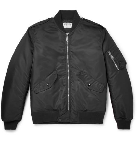 Saint Laurent - Shell Bomber Jacket - Men - Black