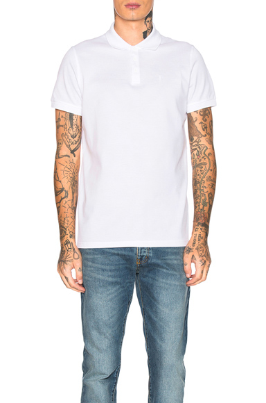 Saint Laurent Sport Polo in White. - size M (also in S,L,XL)