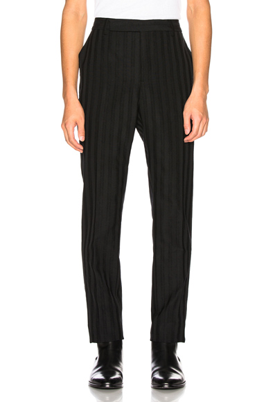 Saint Laurent Striped Trouser in Black,Stripes. - size 48 (also in 46,50)
