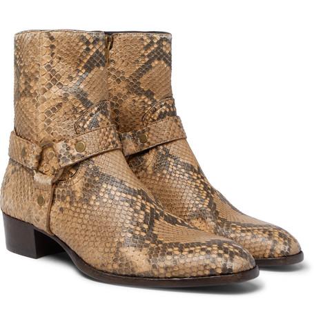 Saint Laurent - Wyatt Python Harness Boots - Men - Brown