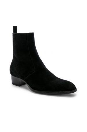 Saint Laurent Wyatt Zipper Boots in Black. - size 44 (also in 41,42,43)