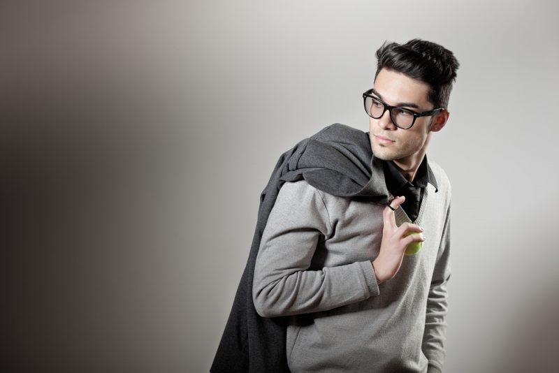 Smart Male Model Glasses