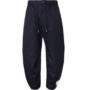 Thom Browne - Drawstring Canvas Trousers - Men - Navy