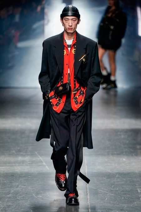 Versace Makes a Bold Sporty Splash with Fall '19 Collection