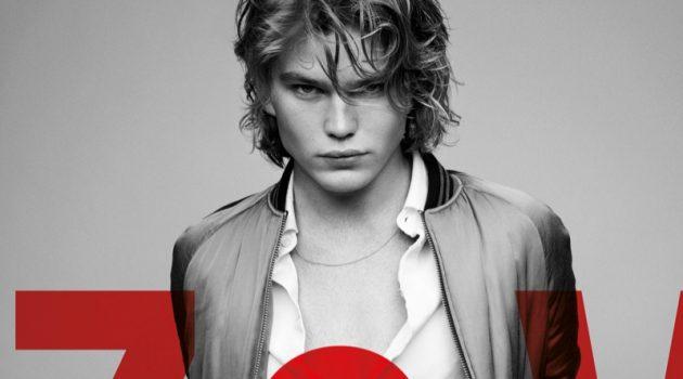 Jordan Barrett stars in Zadig & Voltaire's spring-summer 2019 men's campaign.