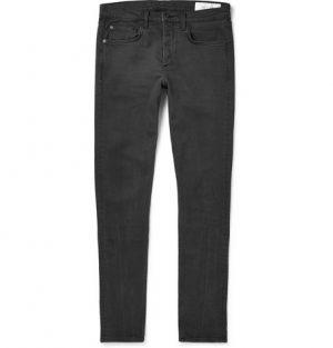 rag & bone - Fit 1 Skinny-Fit Stretch-Denim Jeans - Men - Charcoal