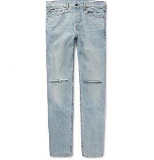 rag & bone - Fit 2 Slim-Fit Distressed Stretch-Denim Jeans - Men - Light denim