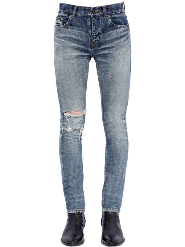 15cm Skinny Destroyed Denim Jeans
