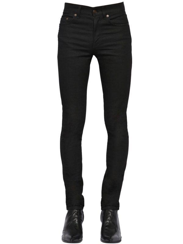 15cm Skinny Low Rise Cotton Denim Jeans