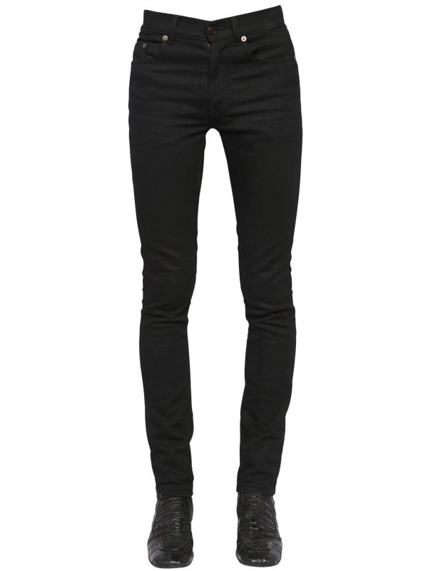 15cm Skinny Mid Rise Cotton Denim Jeans