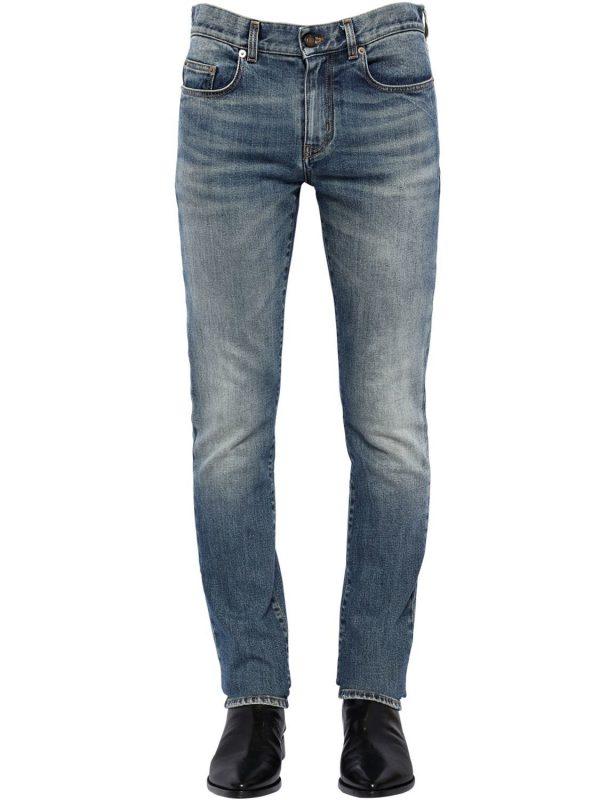 16cm Skinny Low Rise Denim Jeans