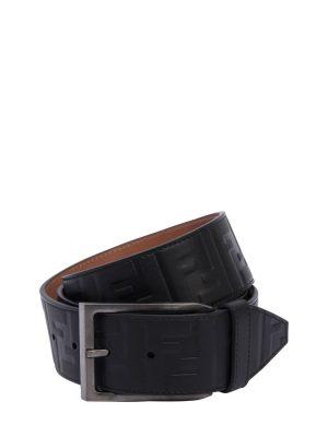 40mm Ff Signature Embossed Leather Belt
