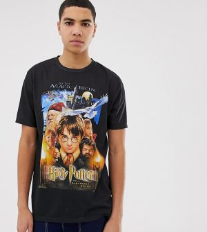 ASOS DESIGN Tall Harry Potter relaxed t-shirt - Black
