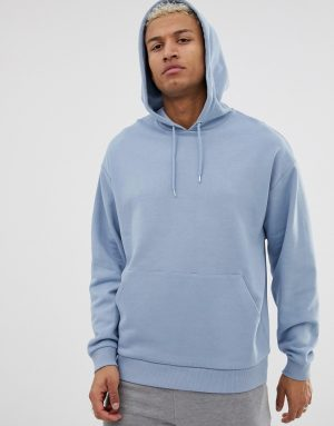 ASOS DESIGN oversized hoodie in blue - Blue