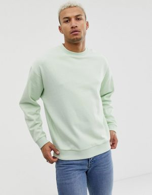 ASOS DESIGN oversized sweatshirt in green - Green