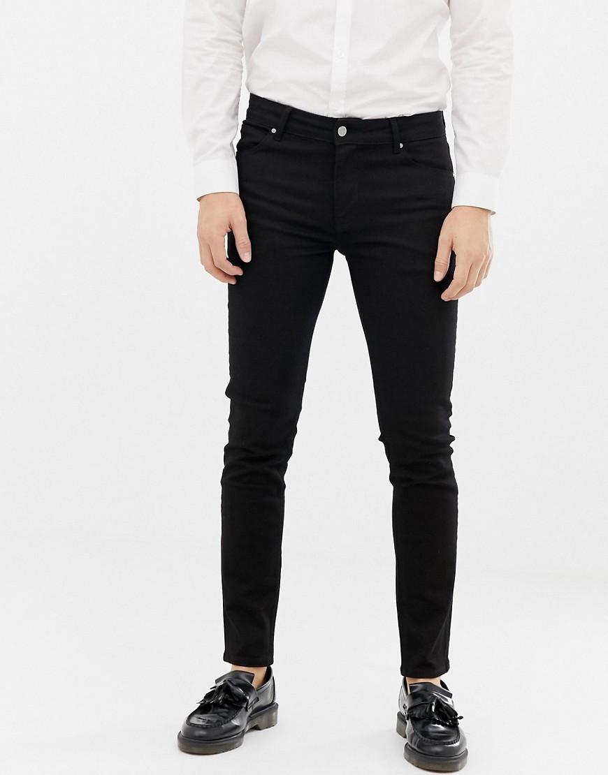 45604339658 ASOS DESIGN skinny jeans in black – Black   The Fashionisto