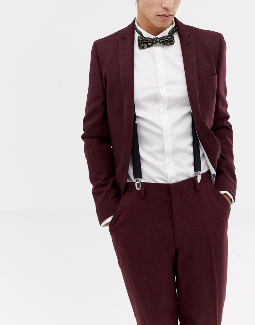 c3d311ade257 ASOS DESIGN suspender and bow tie set in black with gold paisley bow tie –  Black