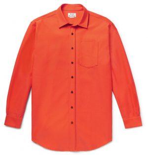Acne Studios - Atlent Oversized Cotton-Blend Twill Shirt - Men - Bright orange