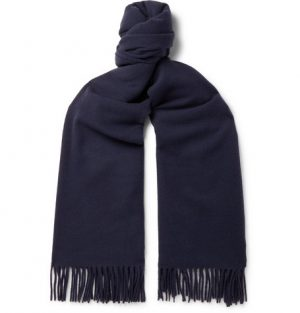Acne Studios - Canada Fringed Wool Scarf - Men - Navy