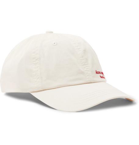 7ce8dcb3695 Acne Studios – Carliy Logo-Embroidered Cotton-Canvas Baseball Cap – Men –  Off-white