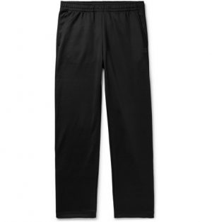 Acne Studios - Emmett Snap-Detailed Tech-Jersey Sweatpants - Men - Black