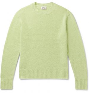 Acne Studios - Peele Bobbled Wool and Cashmere-Blend Sweater - Men - Green