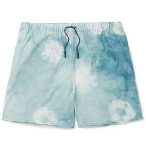 Acne Studios - Perry D Mid-Length Printed Swim Shorts - Men - Teal