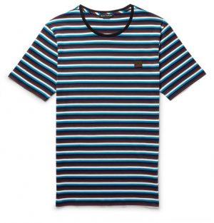 Acne Studios - Slim-Fit Striped Cotton-Jersey T-Shirt - Men - Teal