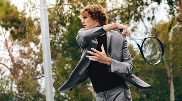 "Tennis star Alexander ""Sasch"" Zverev appears in Z Zegna's spring-summer 2019 Wash&Go campaign."