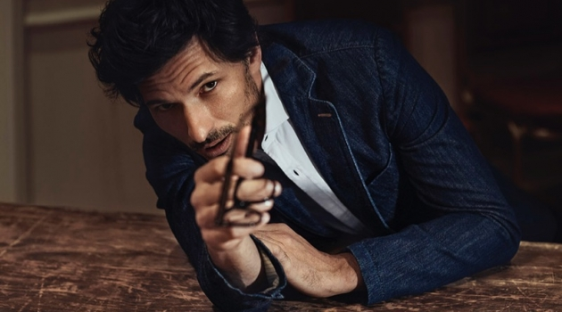 Andres Velencoso Dons Smart Denim Style for Wall Street Italia