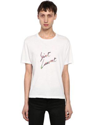 Animalier Signature Print Cotton T-shirt