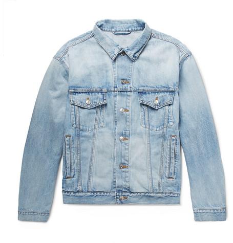 Balenciaga - Bleached Denim Jacket - Men - Indigo
