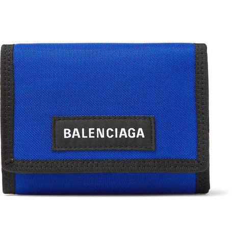 Balenciaga - Explorer Canvas Billfold Wallet - Men - Blue