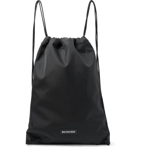 Balenciaga - Explorer Canvas Drawstring Backpack - Men - Black