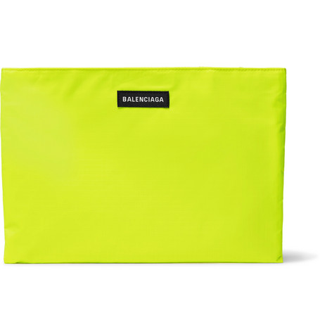 Balenciaga - Explorer Neon Ripstop Pouch - Men - Yellow