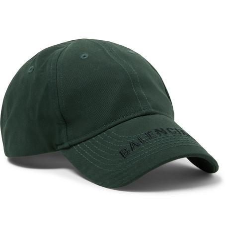 Balenciaga - Logo-Embroidered Cotton-Twill Baseball Cap - Men - Green