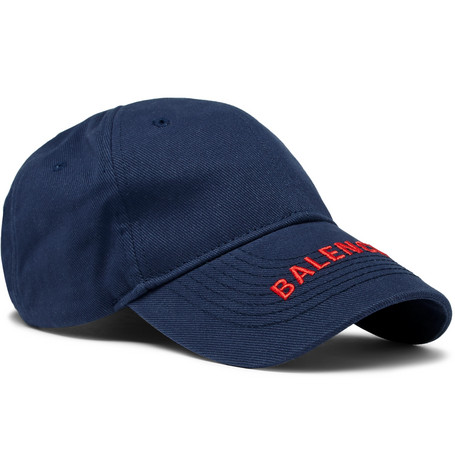Balenciaga - Logo-Embroidered Cotton-Twill Baseball Cap - Men - Navy