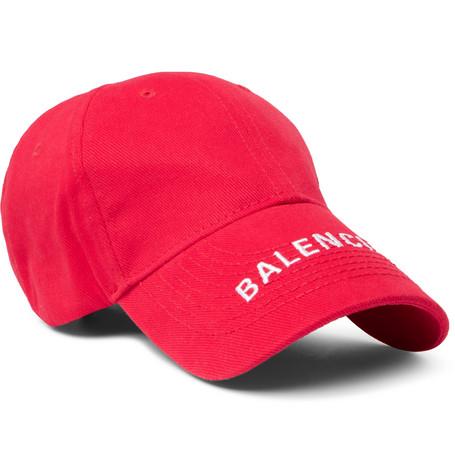 Balenciaga - Logo-Embroidered Cotton-Twill Baseball Cap - Men - Red