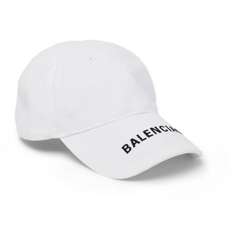 Balenciaga - Logo-Embroidered Cotton-Twill Baseball Cap - Men - White